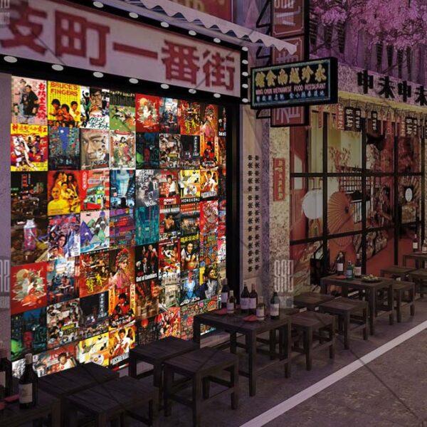 Hẻm bia hong kong sử dụng decal dán tường hong kong Stickeraz