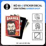 Bộ 52 sticker decal dán tường barber shop A4  STICKERAZ
