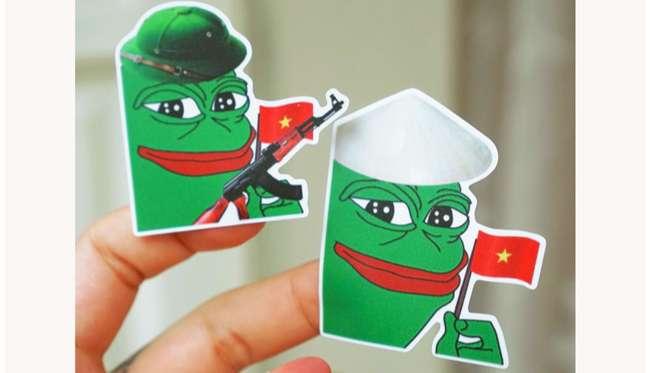 Sticker meme ếch xanh pepe