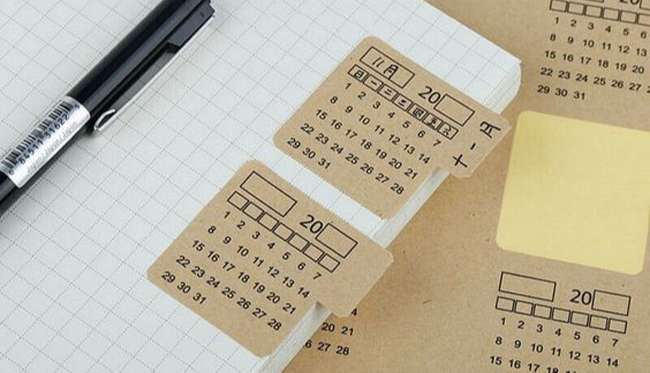 Sticker giấy kraft lịch sticker stationary