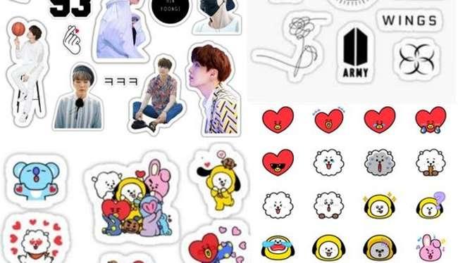 Sticker idol thần tượng BTS
